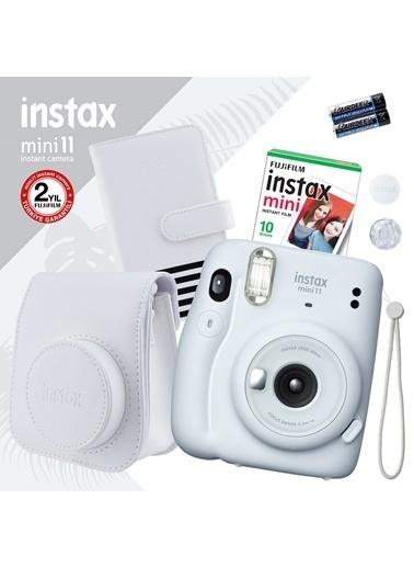 Fujifilm instax mini 11 Beyaz Fotoğraf Makinesi ve Hediye Seti 2 Beyaz